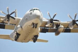 Big plane flyover head on web