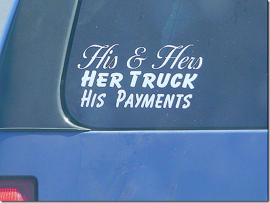 His Hers truck payments
