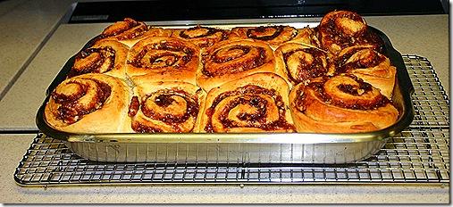 Cinnamon rolls baked