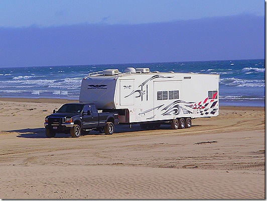 Fifth Wheel on beach 2