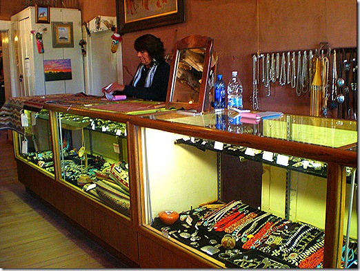 Hubbell Trading Post jewelry counter