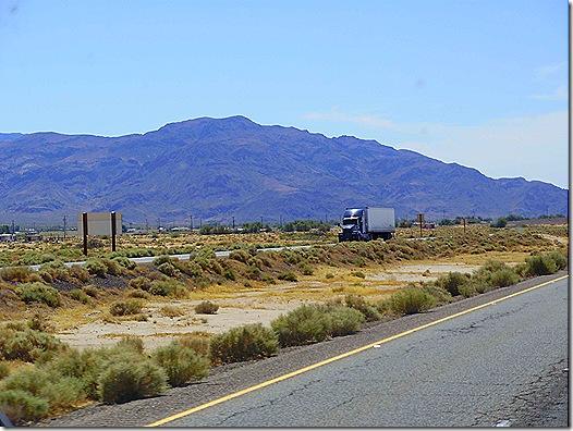 Mojave Desert highway mountain view 2