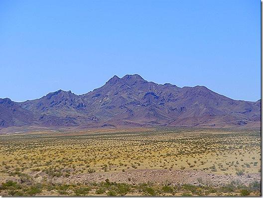 Mojave Desert mountain view
