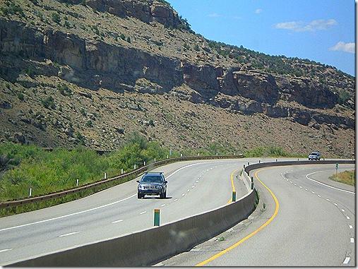 Glenwood Canyon twisty road