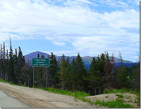 Vail Pass Summit sign