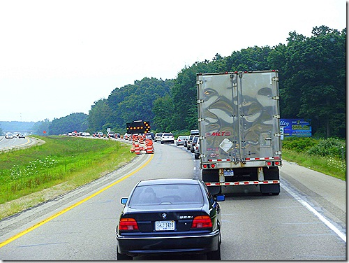 Road construction on US 31 Michigan 2
