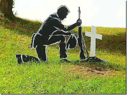 Soldier and cross 2