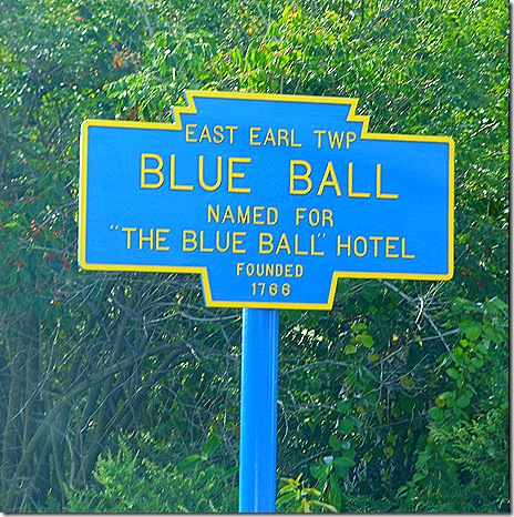 Blue Ball sign