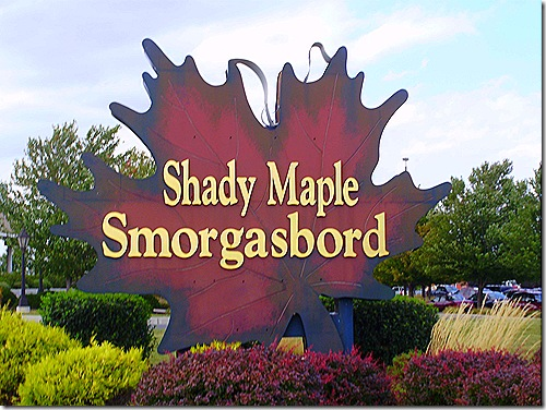 Shady Maple sign