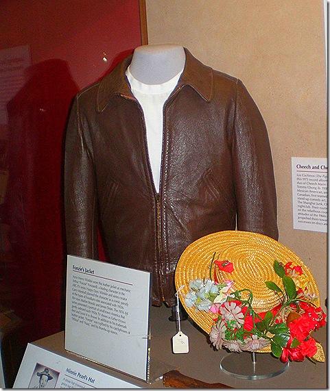 Fonzi Jacket Minnie Pearl hat