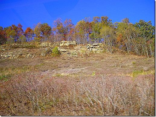 West Virginia rocky hillside