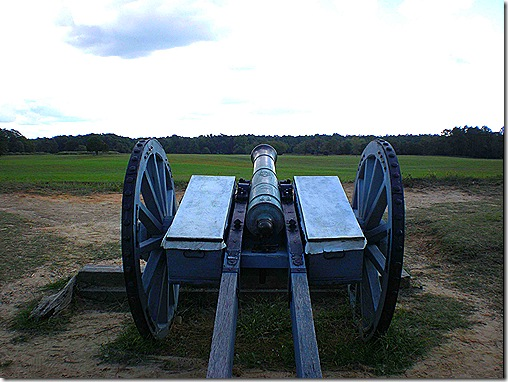 Yorktown cannon view 2