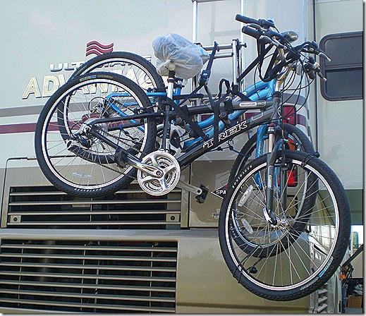 Bikes on rack 2