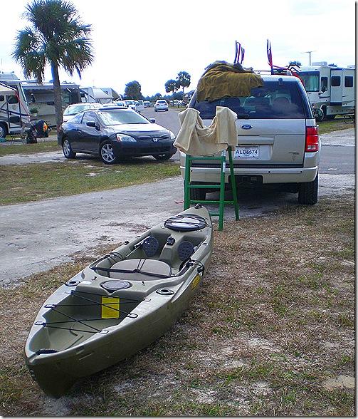 Kayak on ground