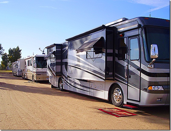 RVs at fairgrounds