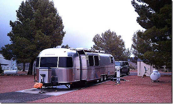 Airstream with slide