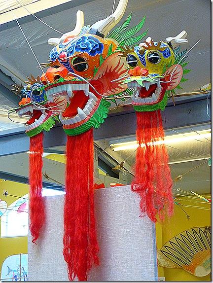 Chinese dragon head kite 2