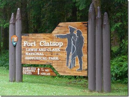 Fort Clatsop sign