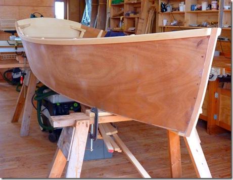 Wooden boat hull