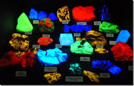 flourescent rocks