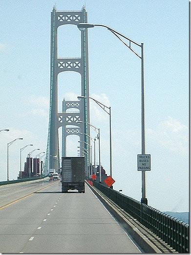 Mackinac Bridge up high 3