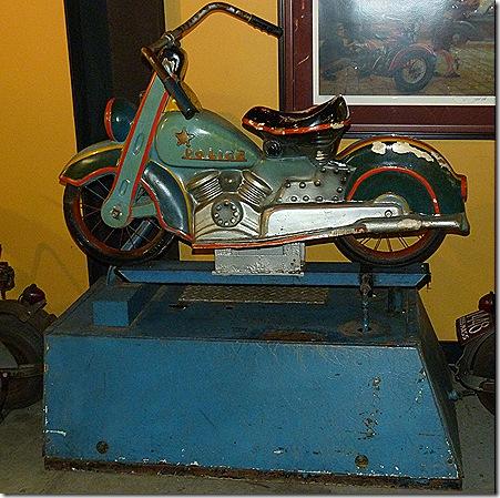 Kiddie motorcycle ride
