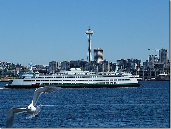 Ferry and Space Needle