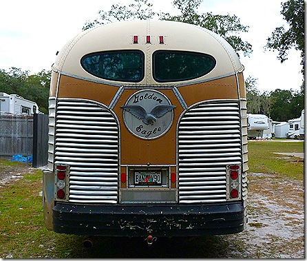 Old GMC bus rear