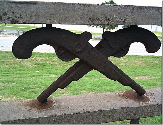 Lake Charles bridge guns