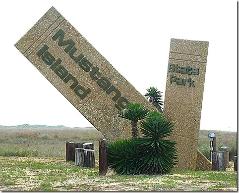 Mustang Island sign 2