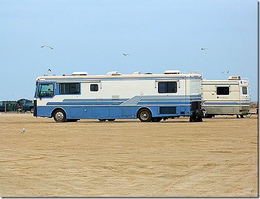 RVs on beach