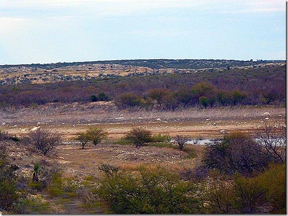 West Texas badlands