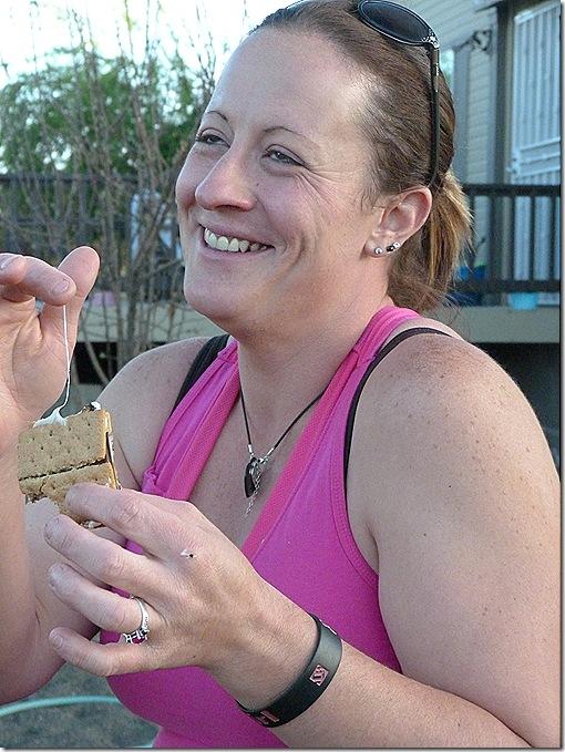 Tiffany eating smores
