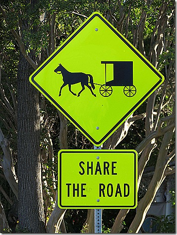 Amish sign