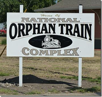 Orphan Train sign web