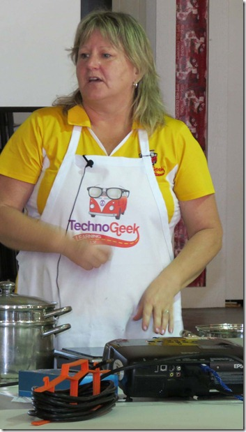 Tracey cooking