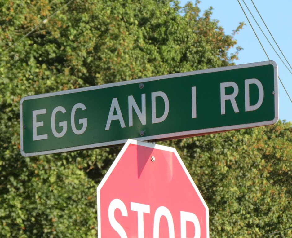 Image result for The Egg and I Road sign