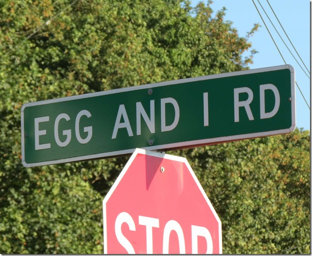 Egg and I road sign 2