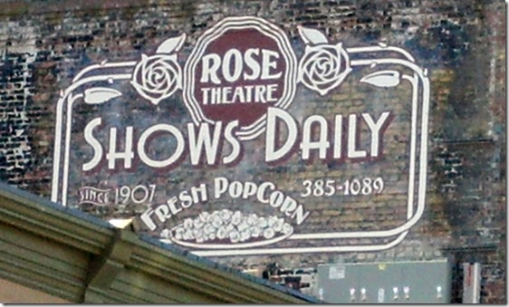 Rose Theater sign