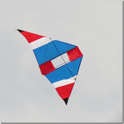 Delta kite flying
