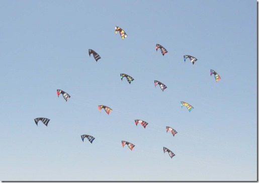 Kites in formation