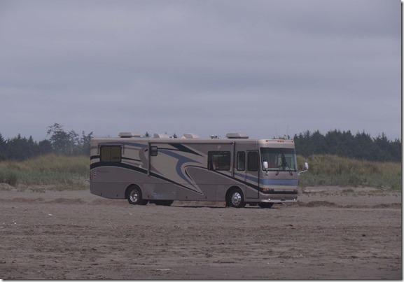 Motorhome on beach