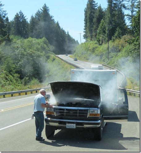 Overheated truck