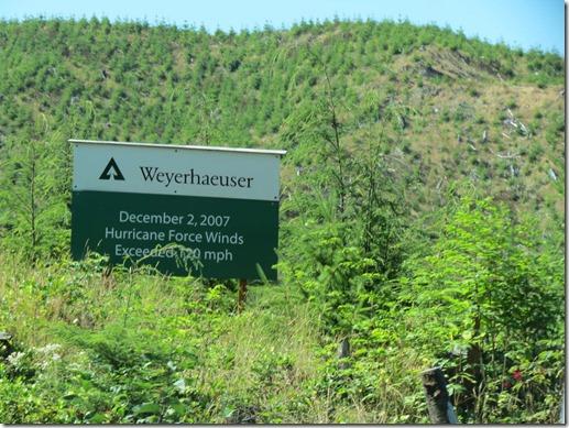 Weyerhaueser sign