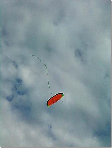 Kite upside down