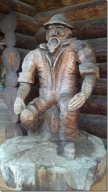 Logger statue 2