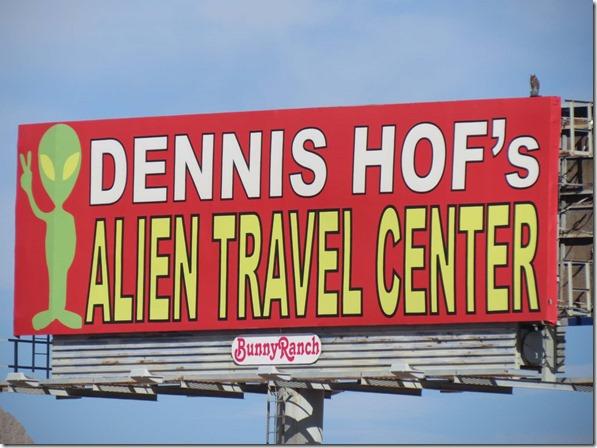 Alien Travel Center sign 2