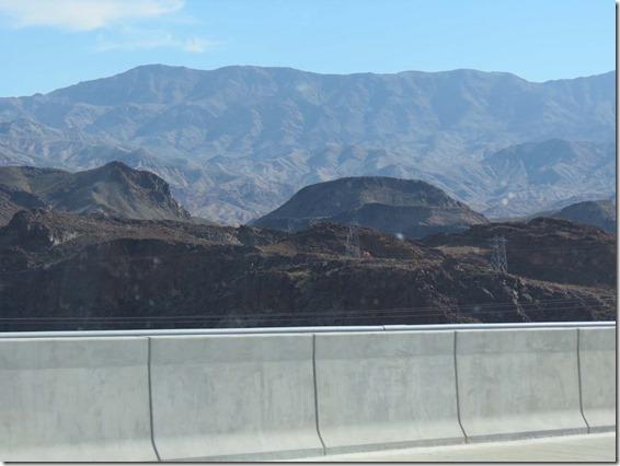 Hoover Dam bridge view