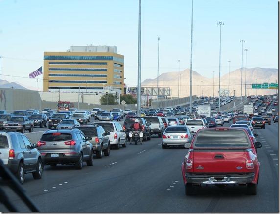 Vegas traffic jam