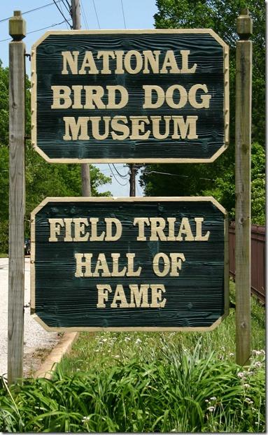 Bird Dog Museum sign